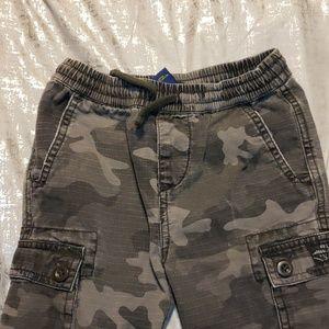 Polo boys grey camouflage cargo pants sz 4/4T
